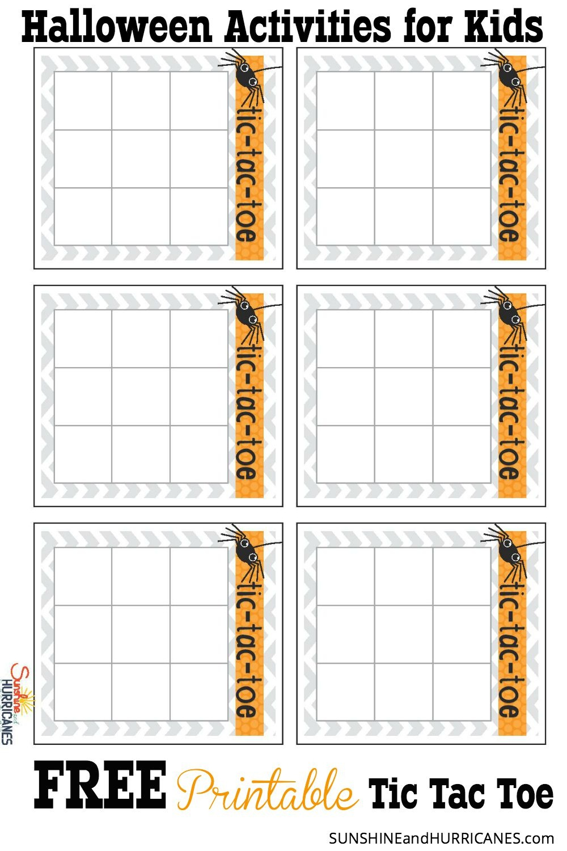 Halloween Activities For Kids - Tic Tac Toe - Free Printable Halloween Games For Kids