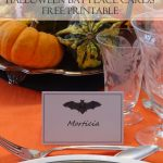 Halloween Bat Place Cards   Free Printable Halloween Place Cards