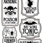 Halloween Bottle Labels   Free Printables   Potions Labels | Art   Free Printable Halloween Bottle Labels