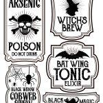 Halloween Bottle Labels   Free Printables   Potions Labels   Free Printable Halloween Bottle Labels