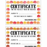 Halloween Certificates ! Give Them Out To Trick O' Treaters As Well   Best Costume Certificate Printable Free