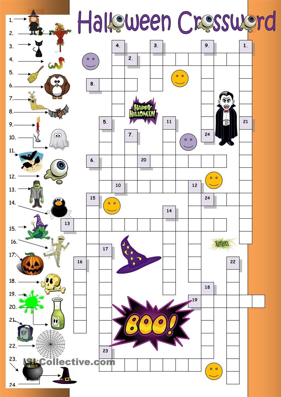 Halloween Crossword For Beginners   Esl Worksheets Of The Day - Halloween Crossword Printable Free