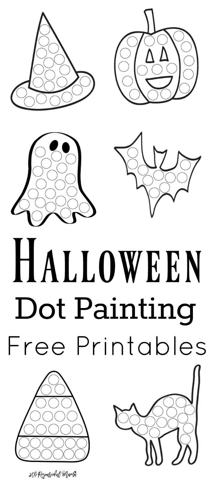 Halloween Dot Painting {Free Printables} | Halloween | Painting - Free Dot Painting Printables