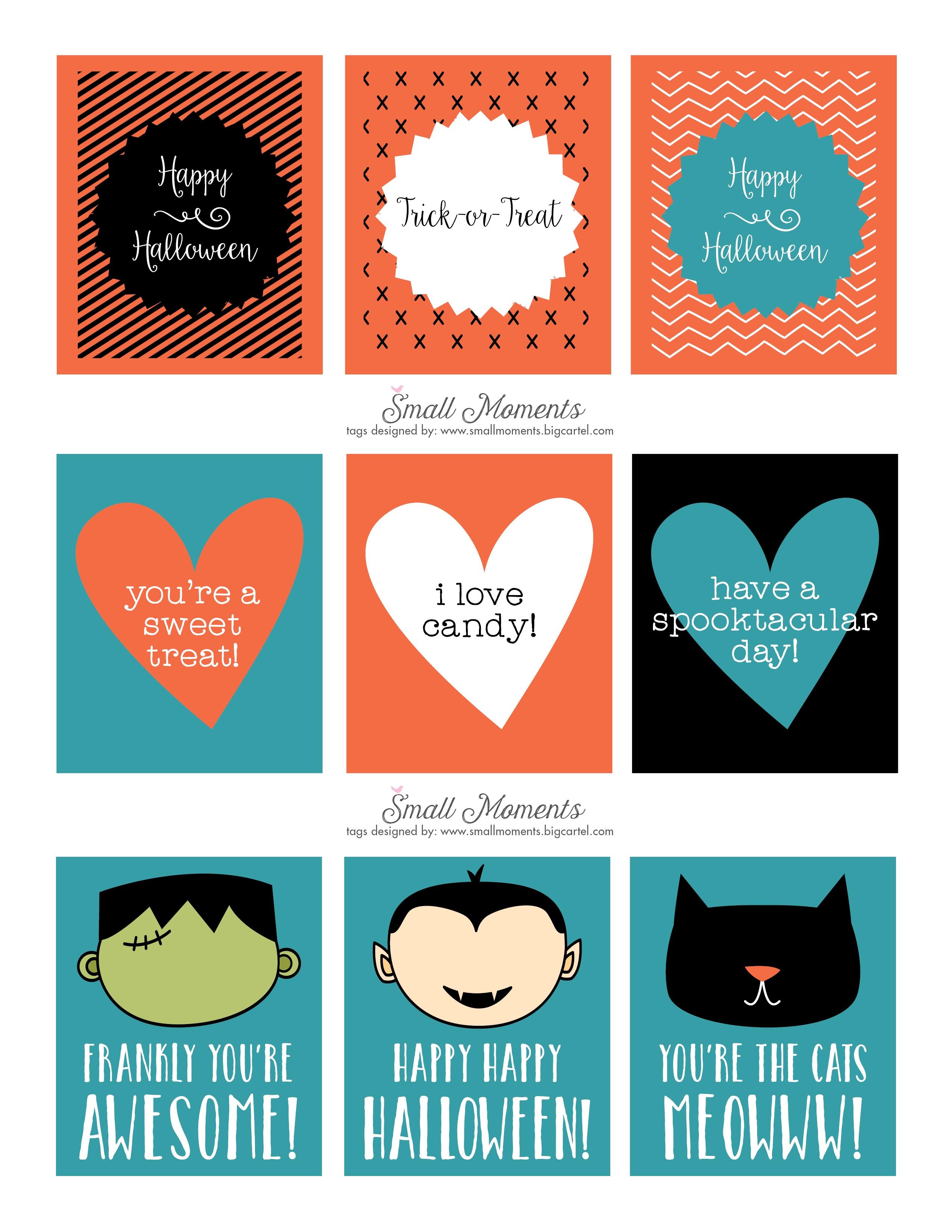 Halloween: Free Printable Tags - See Vanessa Craft - Free Printable Halloween Tags