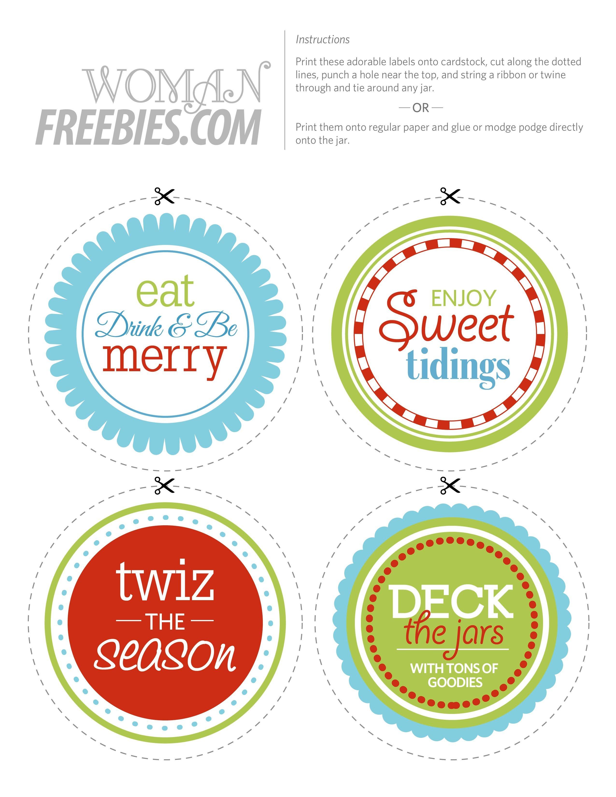 Halloween Jar Circular Label | Free Printable Candy Jar Labels - Free Printable Jar Labels Christmas