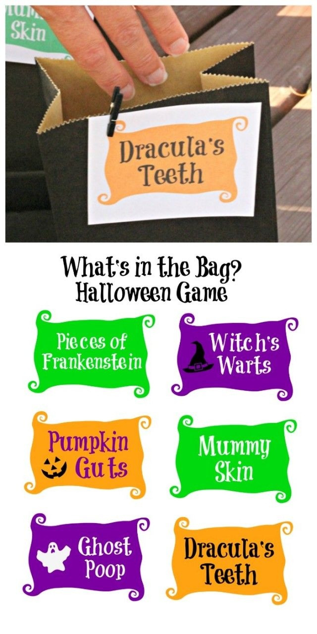 Halloween Mystery Touch & Feel Game {W/free Labels!} | Fun Printable - Free Printable Mystery Games