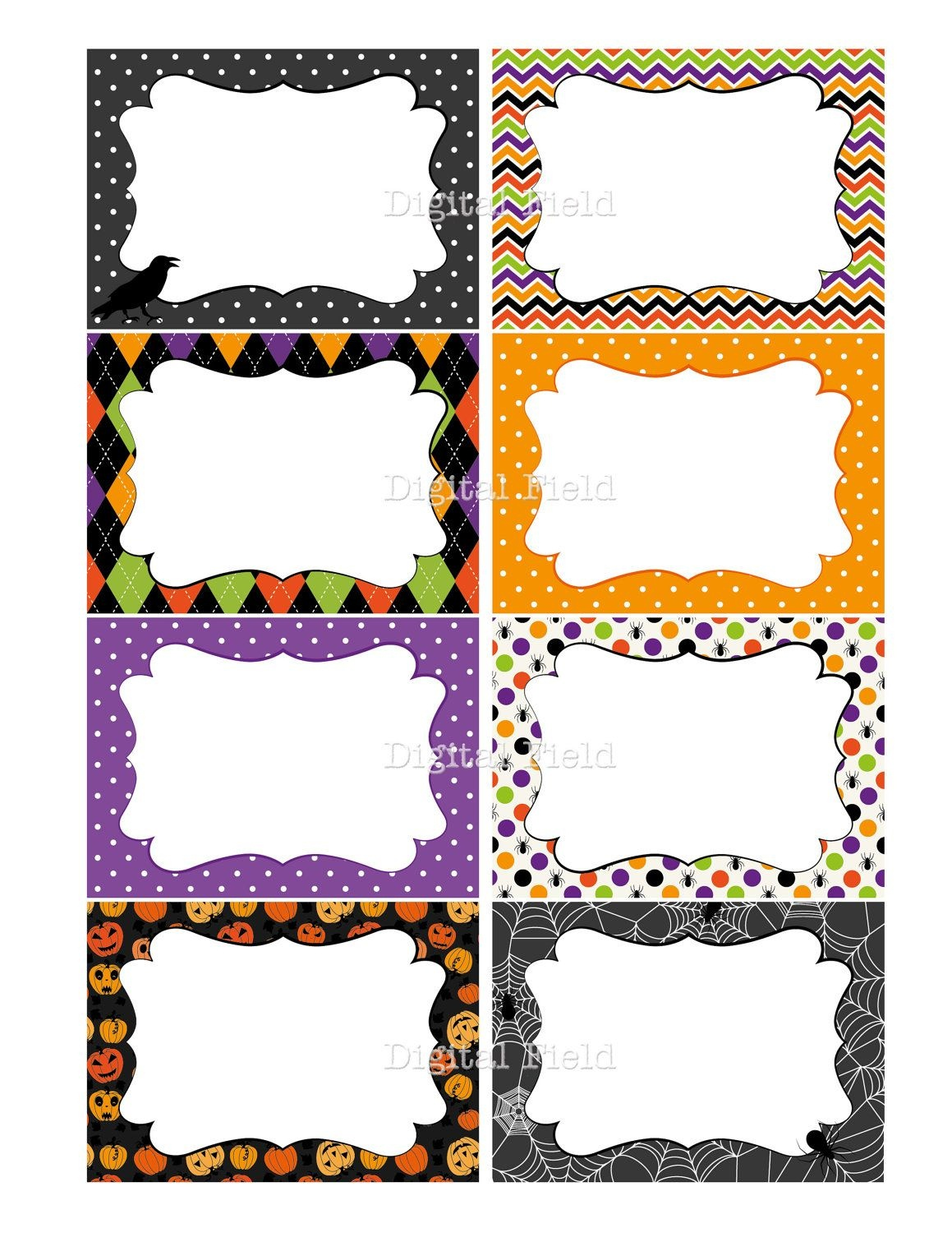 Halloween Printable Labels, Cards Or Tags For Journaling, Gifts - Free Printable Halloween Labels For Treat Bags