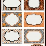 Halloween Printable Labels & Tags, For Gift Tags, Place Cards   Free Printable Halloween Place Cards