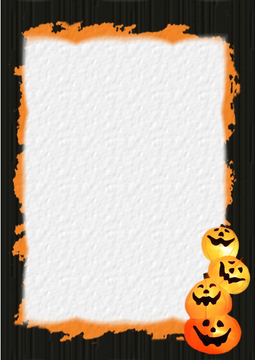 Halloween Stationery | Table Of Contents Or Index Of Stationery - Free Printable Halloween Stationery