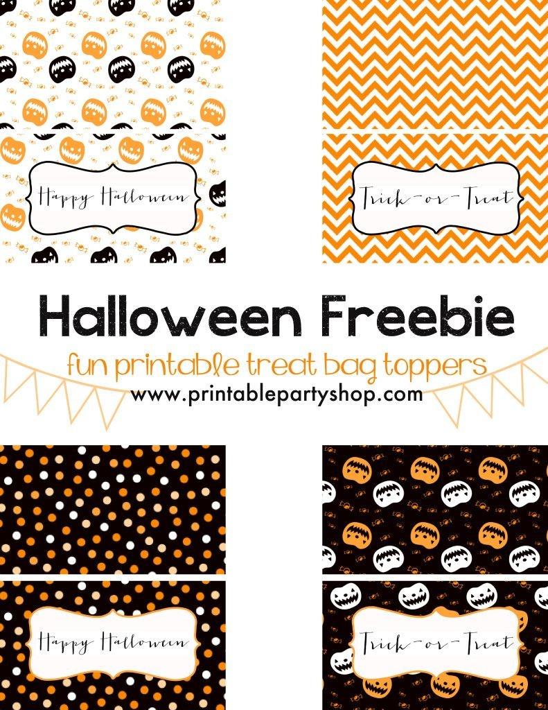 Halloween Treats For Kids- Free Printable | Halloween | Halloween - Free Printable Trick Or Treat Bags
