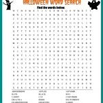 Halloween Word Search Printable Worksheet   Free Printable Word Finds
