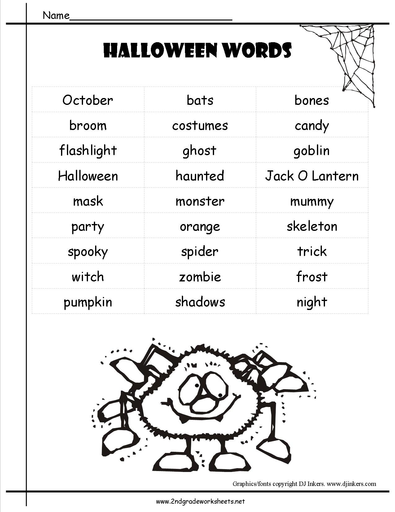 Halloween Worksheets And Printouts - Halloween Worksheets Free Printable