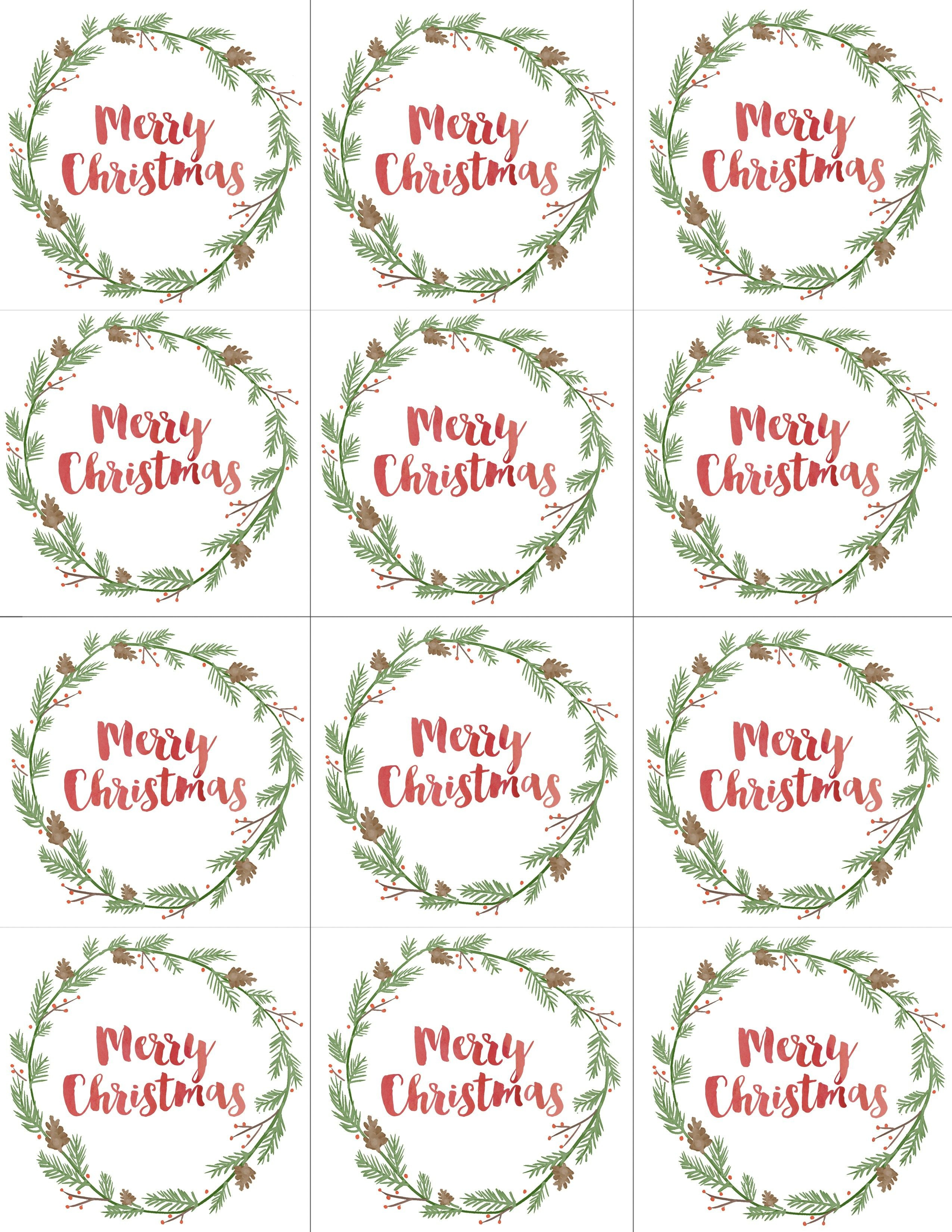 Hand Painted Gift Tags Free Printable | Christmas | Christmas Gift - Free Printable Christmas Price Tags