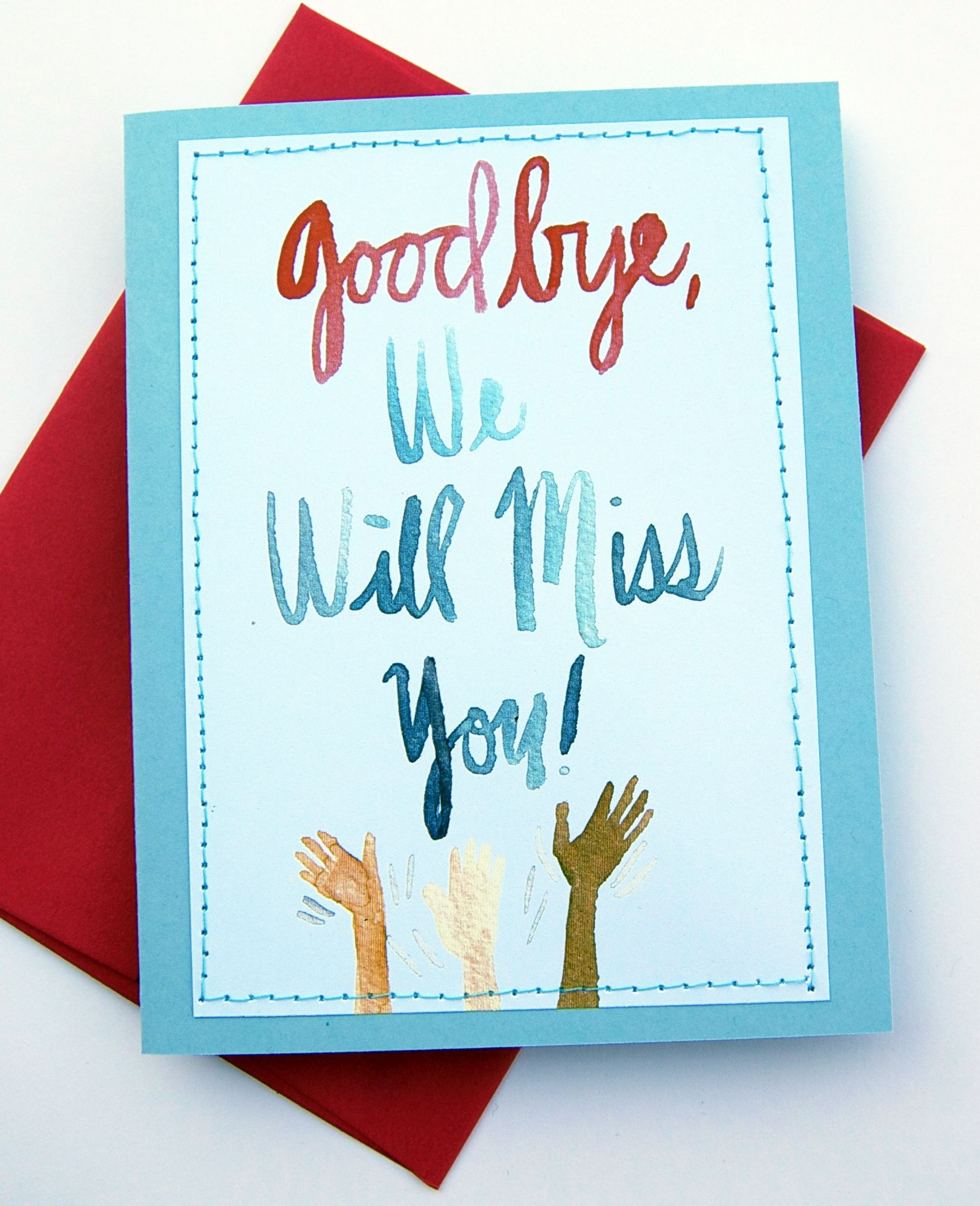 Handmade Card Design Blog. We Will Miss You Cards | Card Ideas - We Will Miss You Cards For Coworker Printable Free