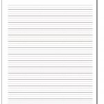 Handwriting Paper   Elementary Lined Paper Printable Free