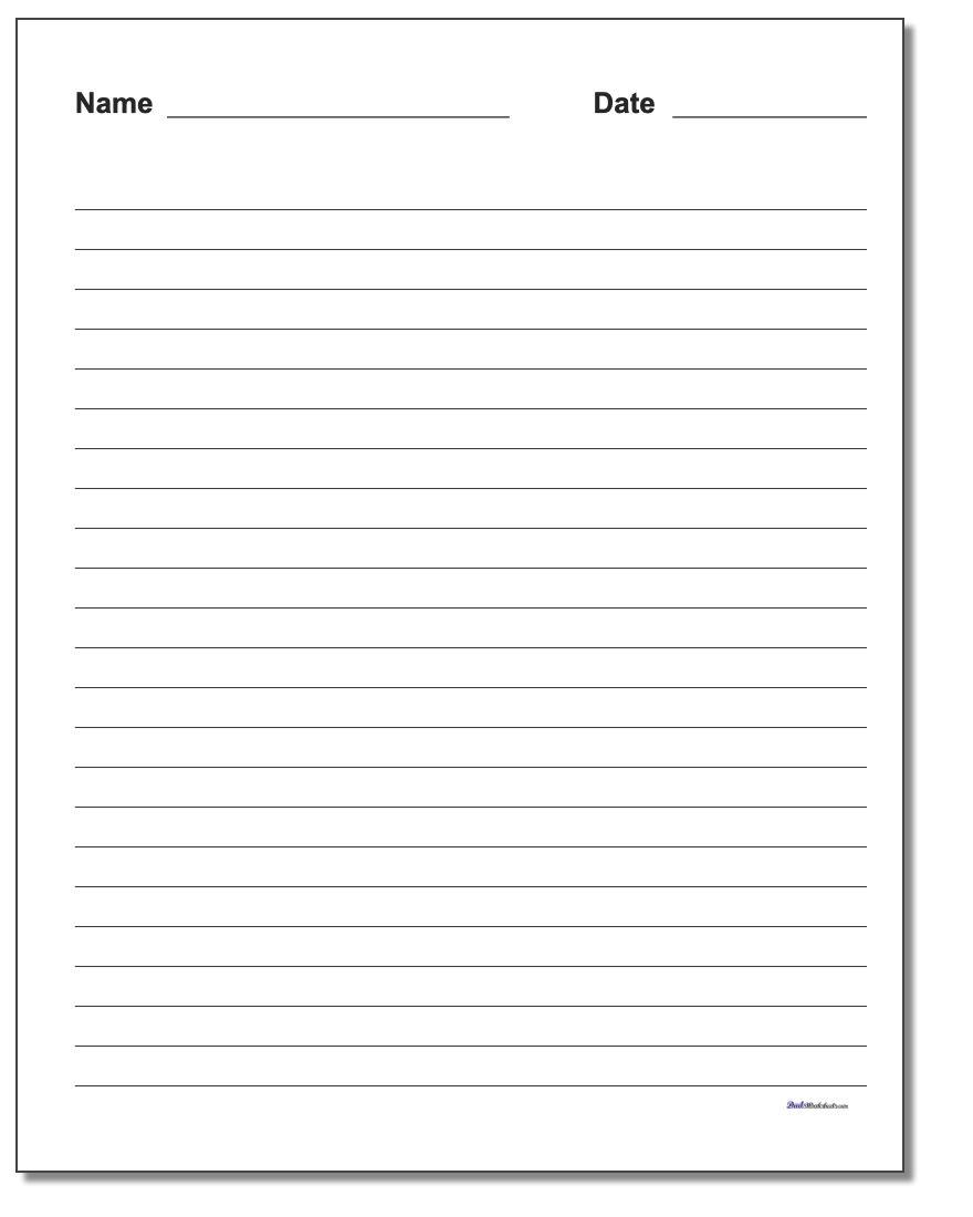 Handwriting Paper - Free Printable Blank Handwriting Worksheets