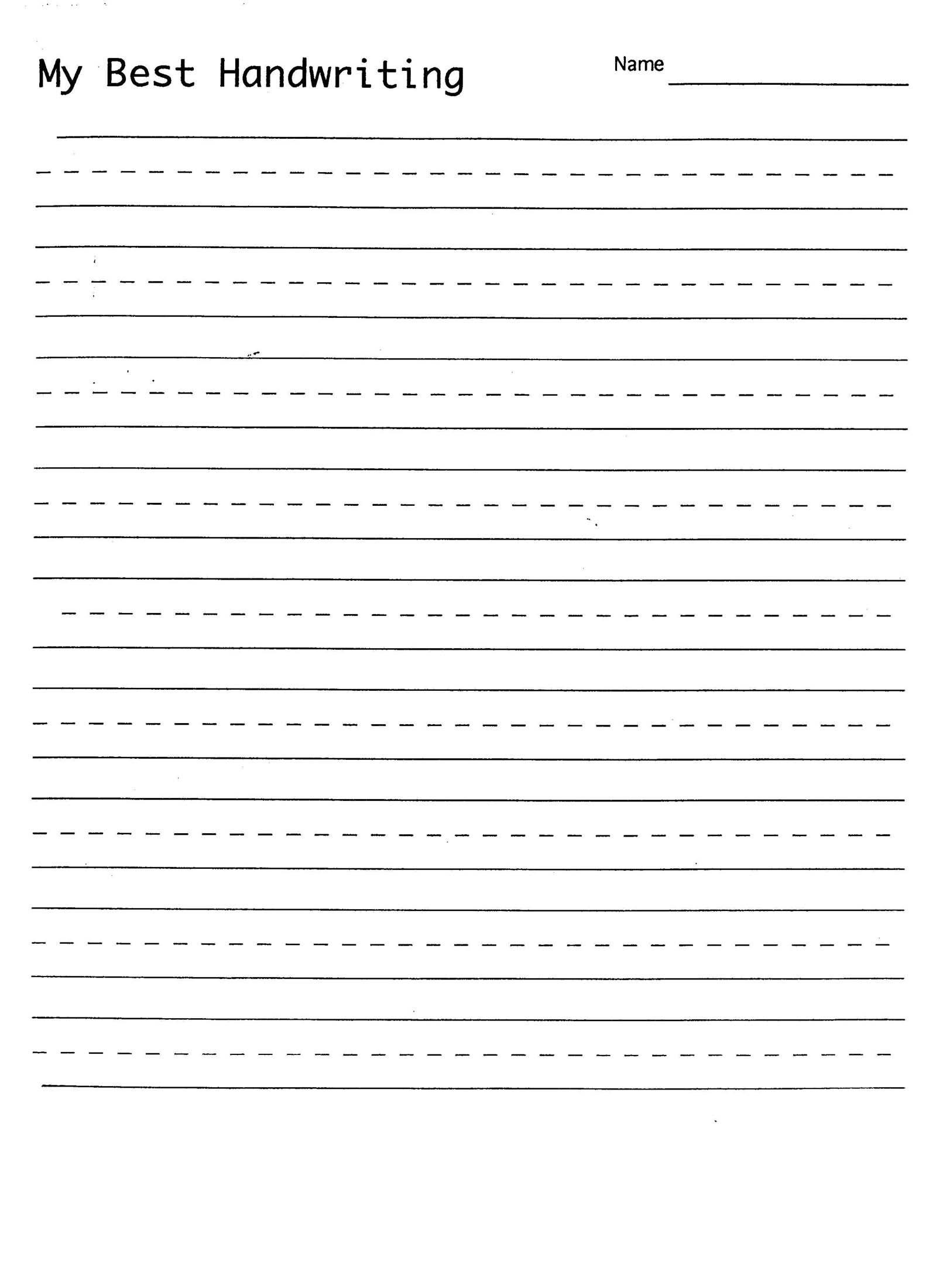 Handwriting Practice Sheet | 1St Grade Handwriting | Kindergarten - Free Printable Blank Handwriting Worksheets