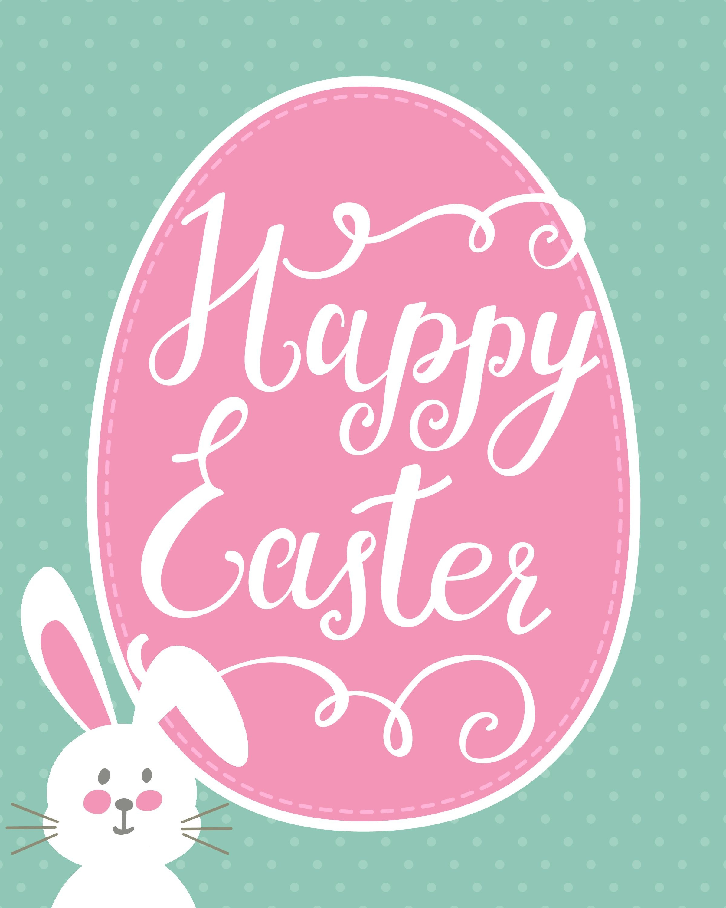 Happy Easter Bunny Printable | Holidays - Easter | Happy Easter - Free Printable Easter Greeting Cards