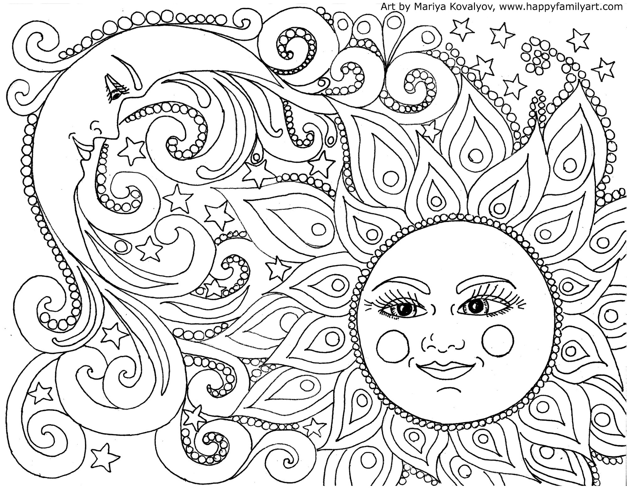 Happy Family Art - Original And Fun Coloring Pages - Free Coloring Printables