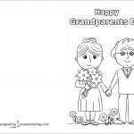 Happy Grandparents Day Card Coloring Page | Free Printable Coloring   Grandparents Day Cards Printable Free
