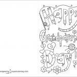 Happy Grandparents Day Doodle Card Coloring Page | Free Printable   Grandparents Day Cards Printable Free