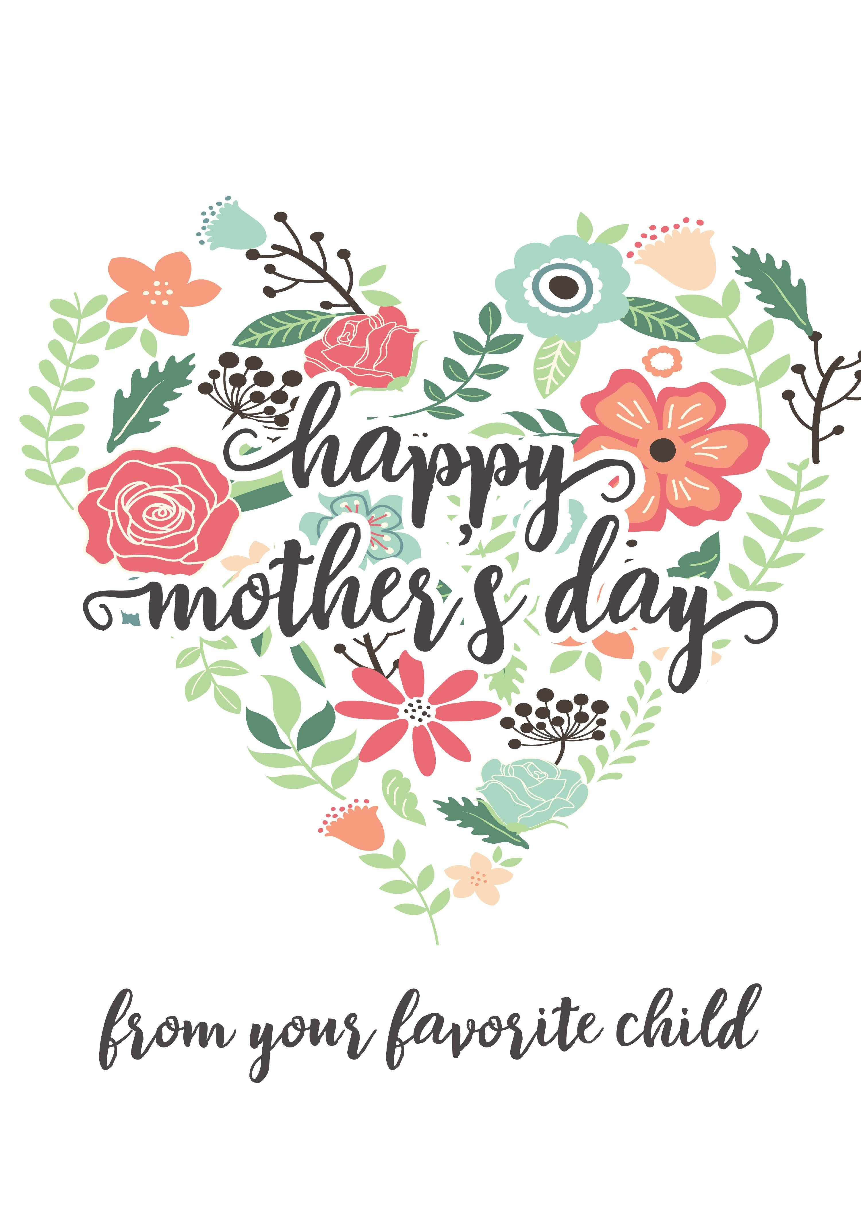 Happy Mothers Day Messages Free Printable Mothers Day Cards - Free Printable Mothers Day Cards