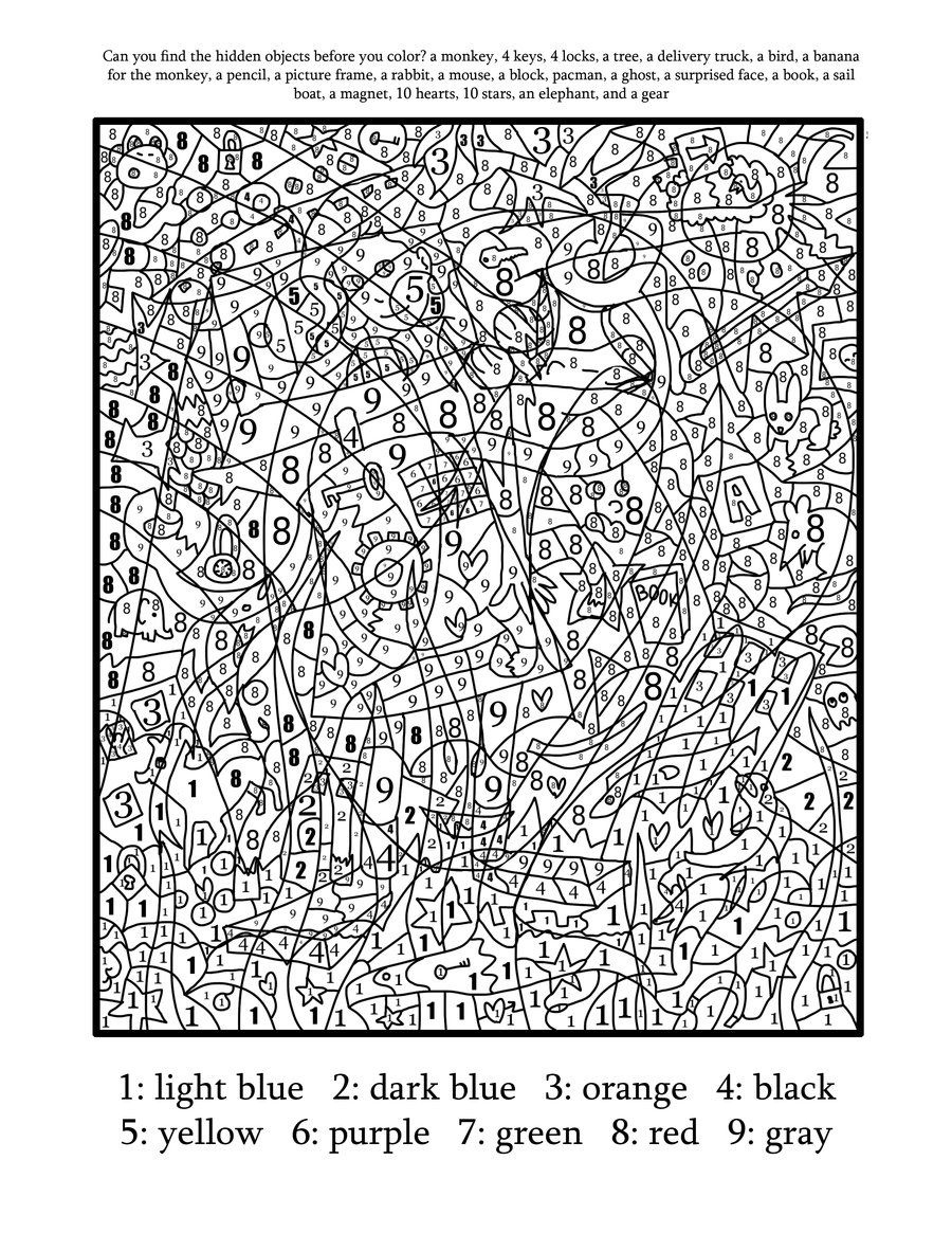 Hard-Color-By-Number-Free-Printables-18 - Coloring Home - Hard Color By Number Free Printables