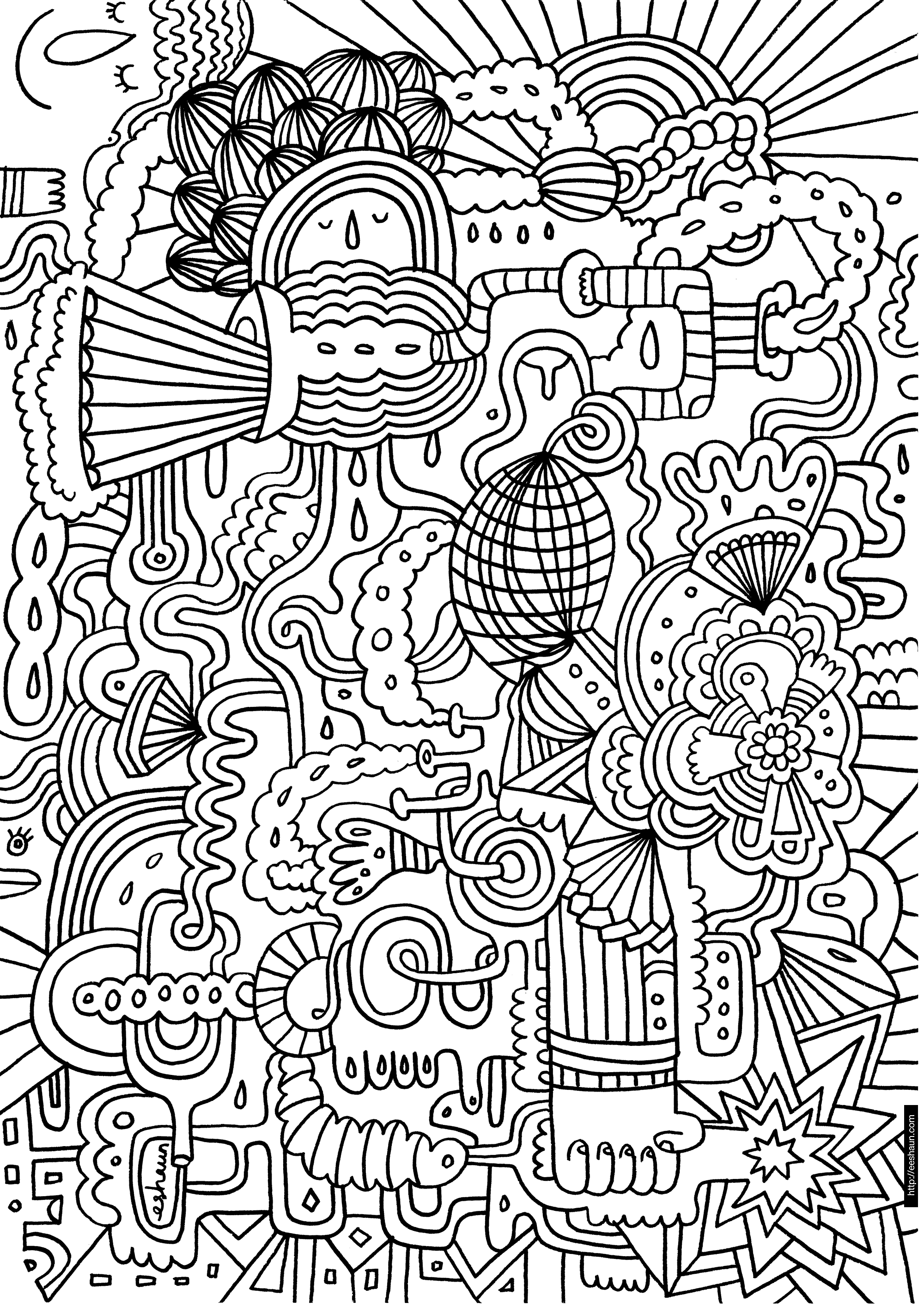 Hard Coloring Pages - Free Large Images | Adult Coloring Pages - Free Printable Hard Coloring Pages For Adults