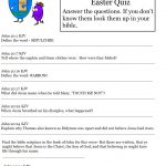 Hard Easter Quiz On Resurrection Of Jesus   Free Bible Questions And Answers Printable