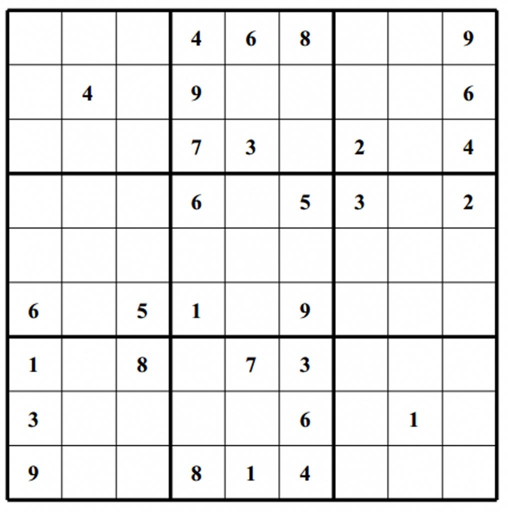 Hard Puzzle | Free Sudoku Puzzles | Printable Sudoku 4 Per Page - Free Printable Suduko