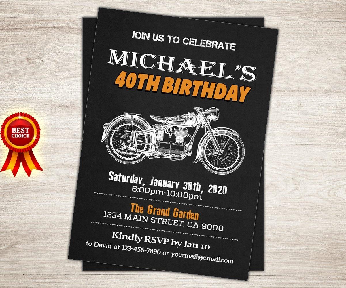 Harley Davidson Birthday Invitations — Birthday Invitation Examples - Free Printable Harley Davidson Birthday Invitations