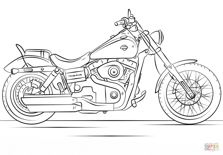 Harley Davidson Motorcycle Coloring Page | Free Printable Coloring Pages - Free Printable Harley Davidson Coloring Pages
