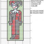 Harley Quinn 8 Bit Bookmark Plastic Canvas Patternmichael Kramer   Free Printable Plastic Canvas Patterns Bookmarks