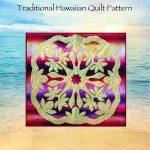 Hawaiian Applique Patterns   Free Printable Hawaiian Quilt Patterns