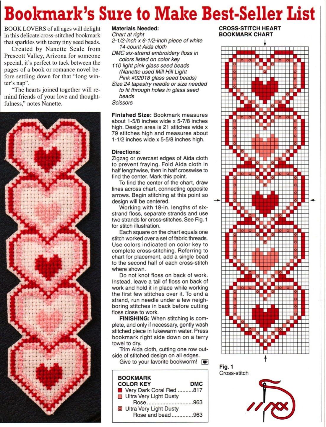 Heart Plastic Canvas Bookmark | Plastic Canvas Crafts | Plastic - Free Printable Plastic Canvas Patterns Bookmarks