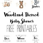 Hello, All! I Am Currently In The Process Of Organizing A Lovely   Free Woodland Baby Shower Printables