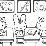 Hello Kitty Back To School Coloring Page | Free Printable Coloring Pages   Free Printable Coloring Sheets For Back To School