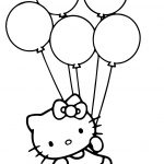 Hello Kitty With Balloons Coloring Page | Free Printable Coloring Pages   Free Printable Pictures Of Balloons