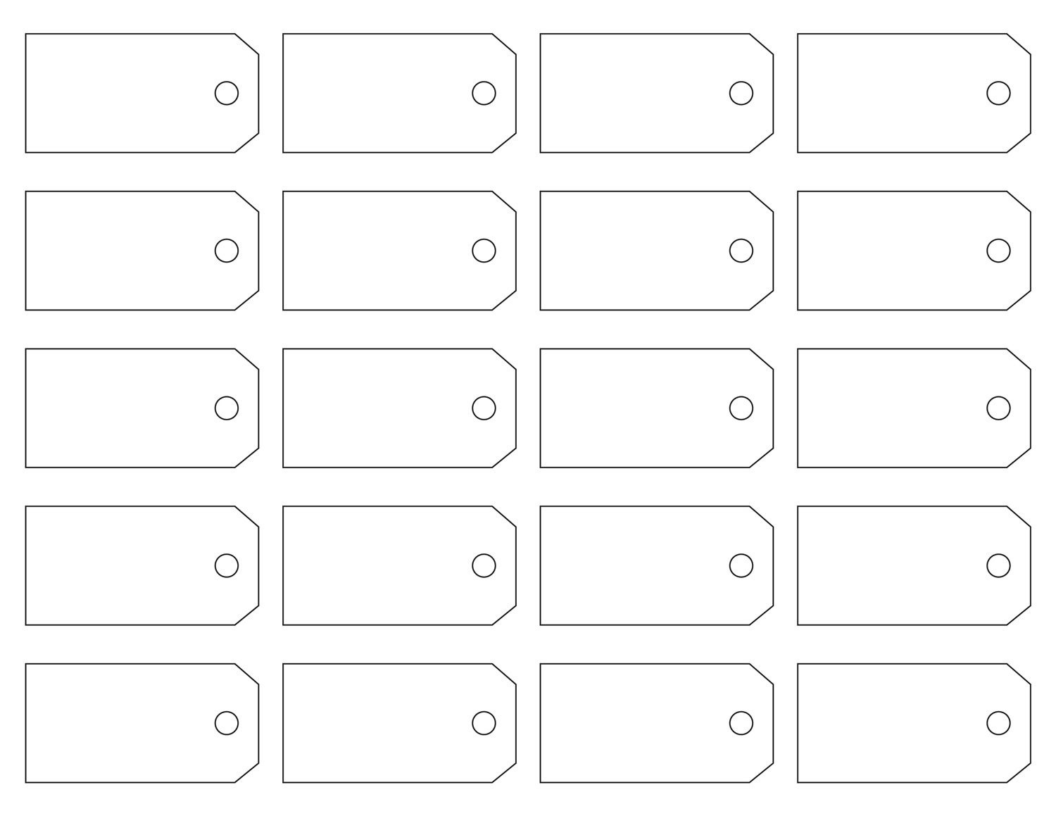 Here Are Some Great Free Address Label Templates That Everyone Would - Free Printable Tags Templates
