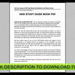 Hesi Study Guide Free   Free Printable Hesi Study Guide | Free   Free Printable Hesi Study Guide