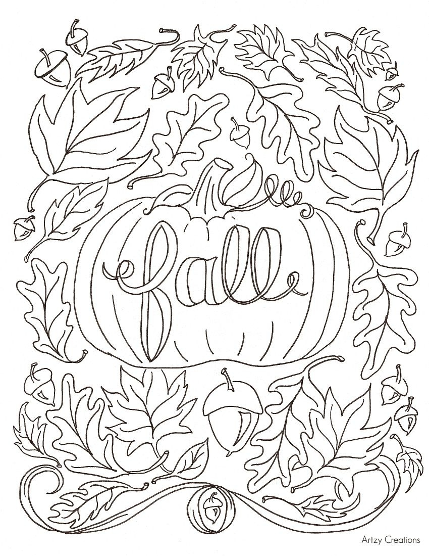 Hi Everyone! Today, I'm Sharing With You My First Free Coloring Page - Free Printable Fall Coloring Pages For Adults