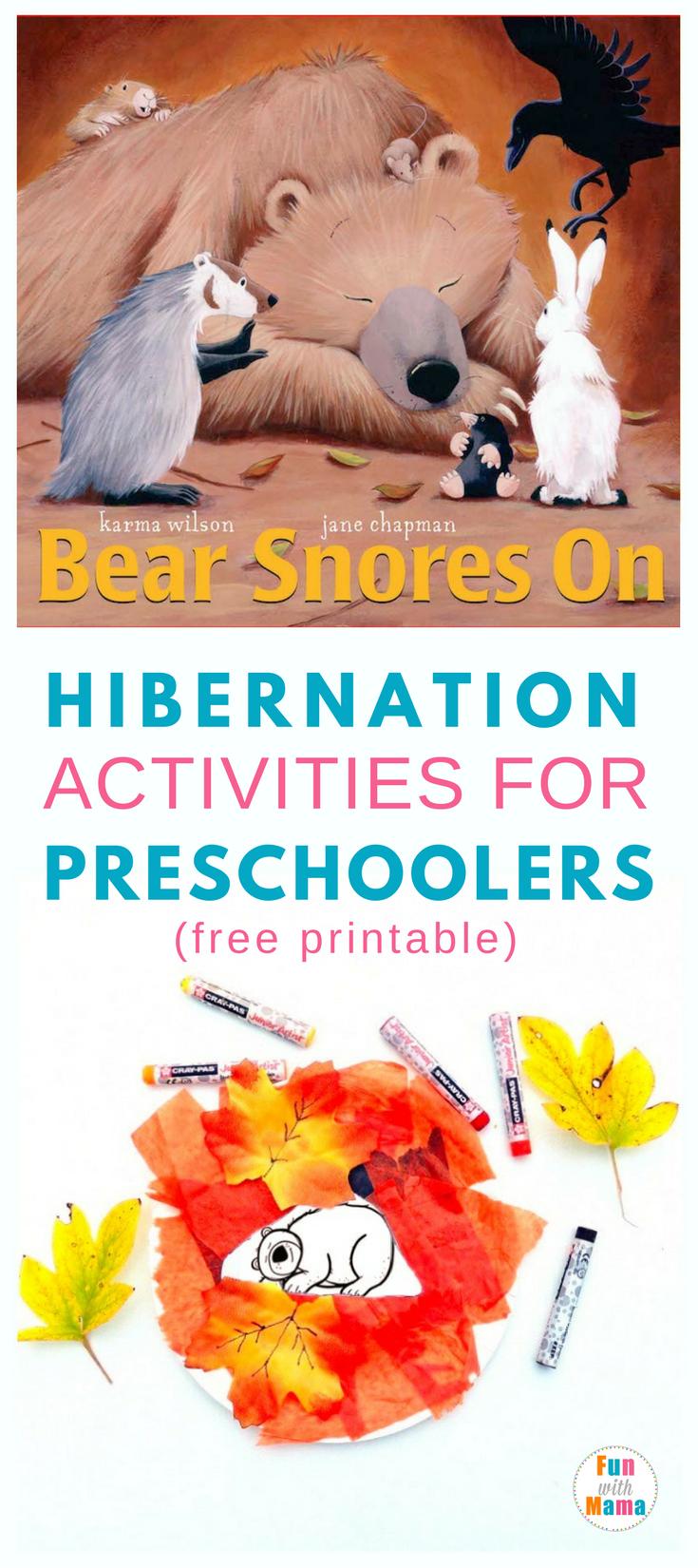 Hibernation Activities For Preschoolers - Fun With Mama - Free Printable Hibernation Worksheets
