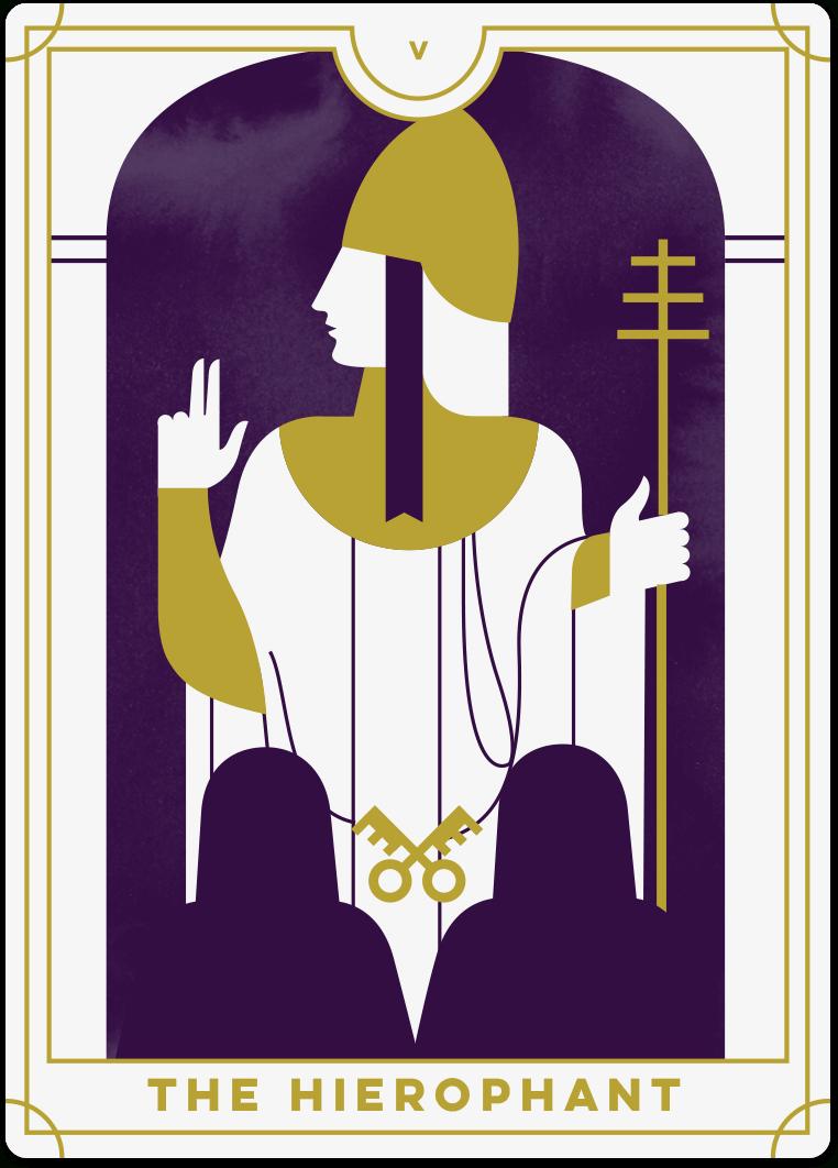Hierophant Tarot Card Meanings   Biddy Tarot - Free Printable Tarot Cards