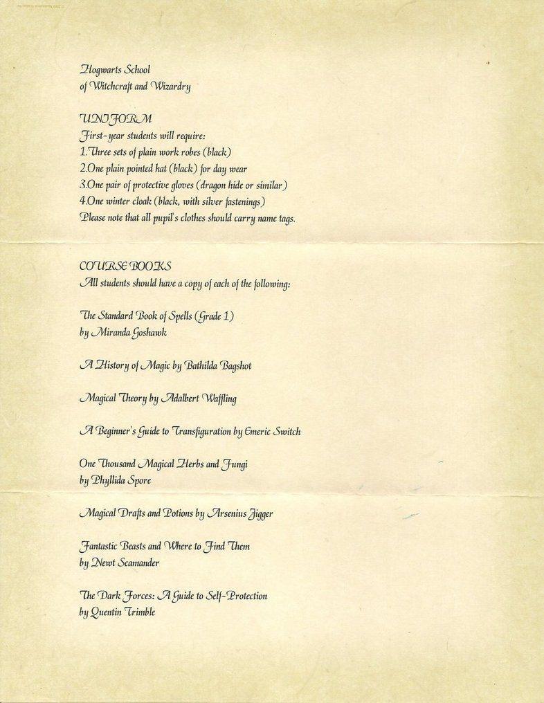 Hogwarts Acceptance Letter Page 2. | Harry Potter Things | Hogwarts - Hogwarts Acceptance Letter Template Free Printable