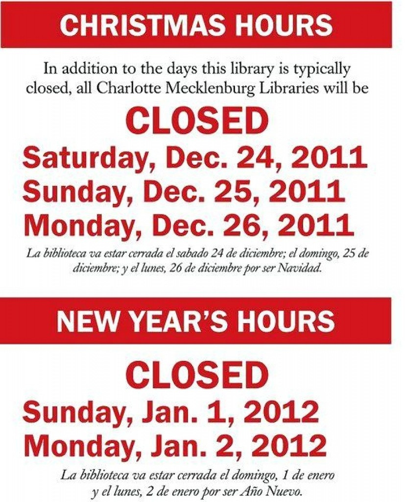 Holiday Closing Signs Templates | Trafficfunnlr - Free Printable Holiday Signs Closed