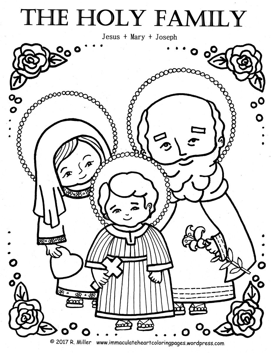 Holy Family Coloring Page | Pre | Family Coloring Pages, Holy Family - Free Catholic Coloring Pages Printables