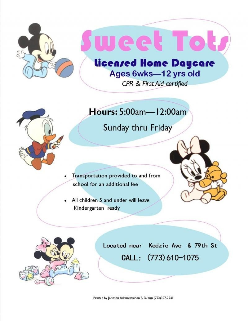 Home Daycare Flyers Ideas | Johnson Administration & Design - Free Printable Home Daycare Flyers