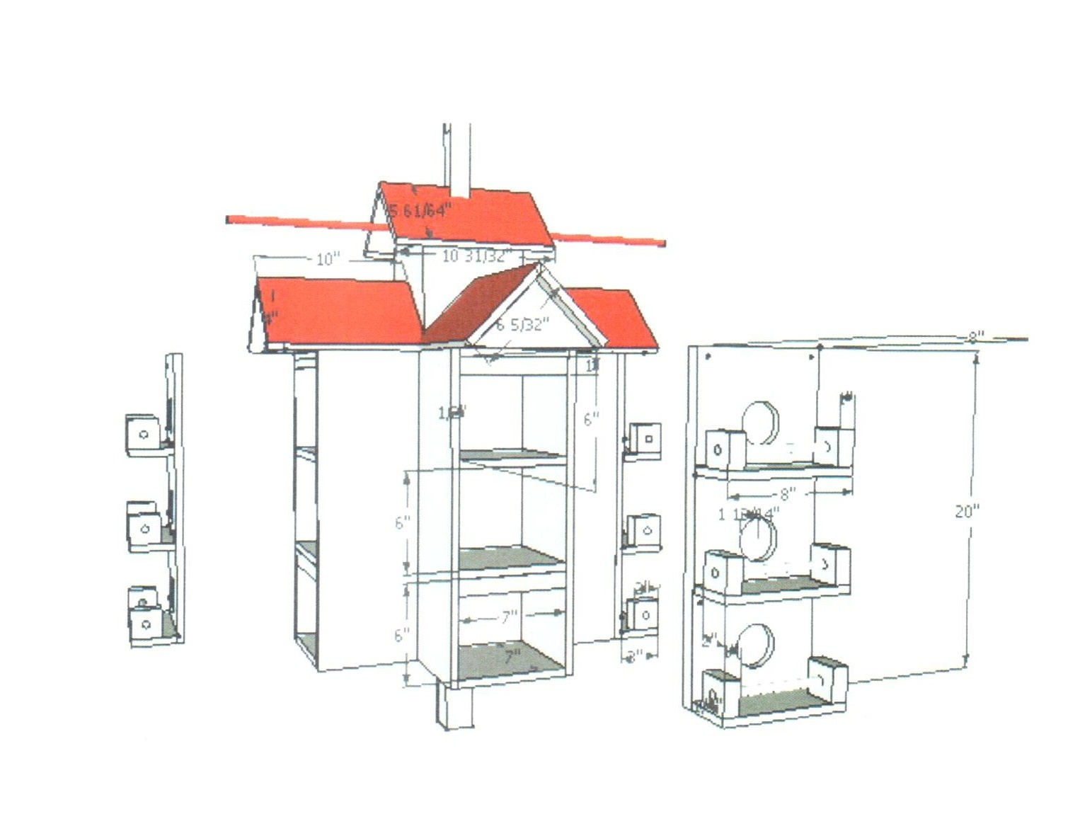 Home Design Ideas. Rondeau House 2. Purple Martin House Plans. Home - Free Printable Purple Martin House Plans