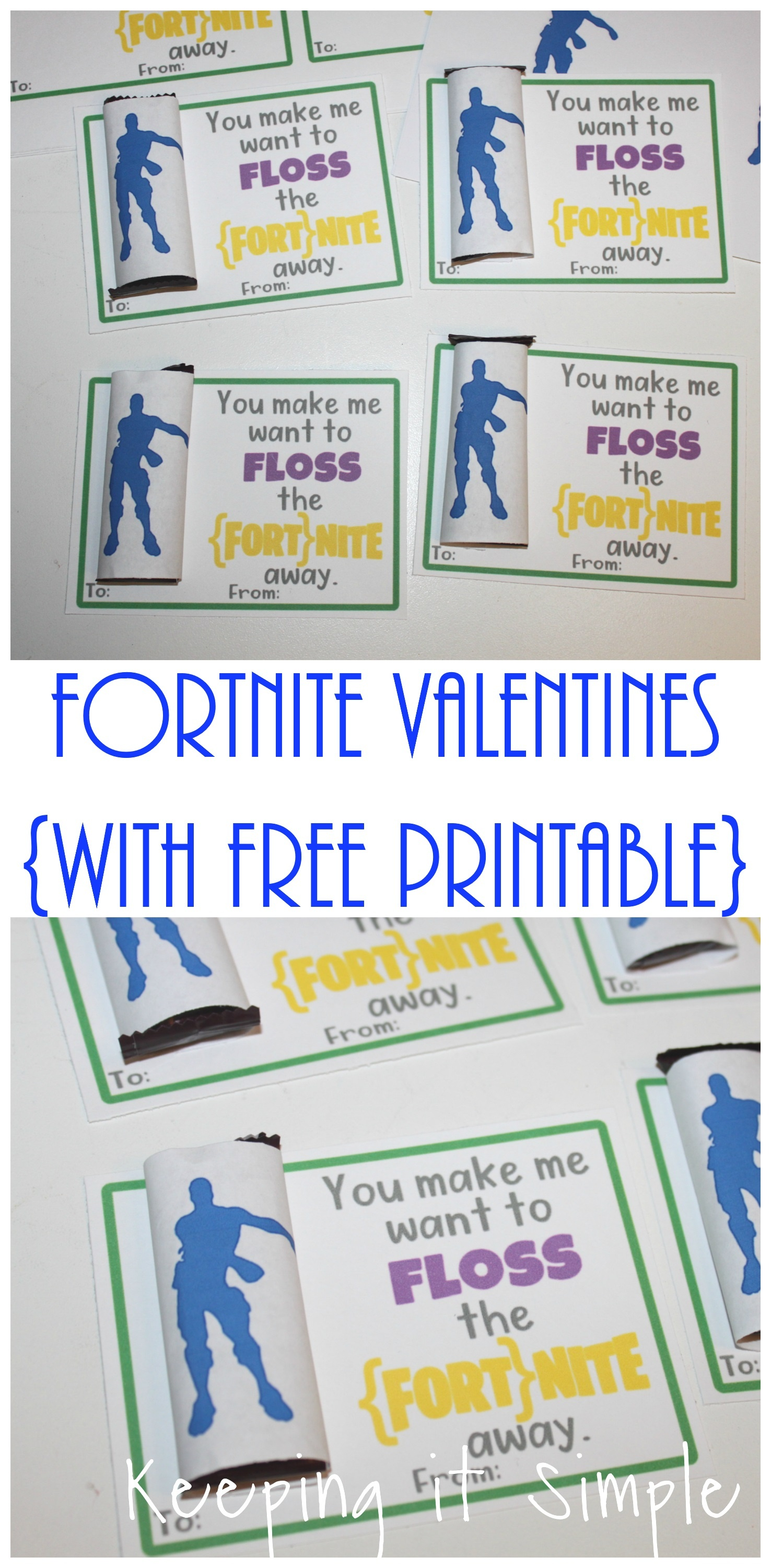 Homemade Fortnite Valentines With Free Printable • Keeping It Simple - Fortnite Free Printables
