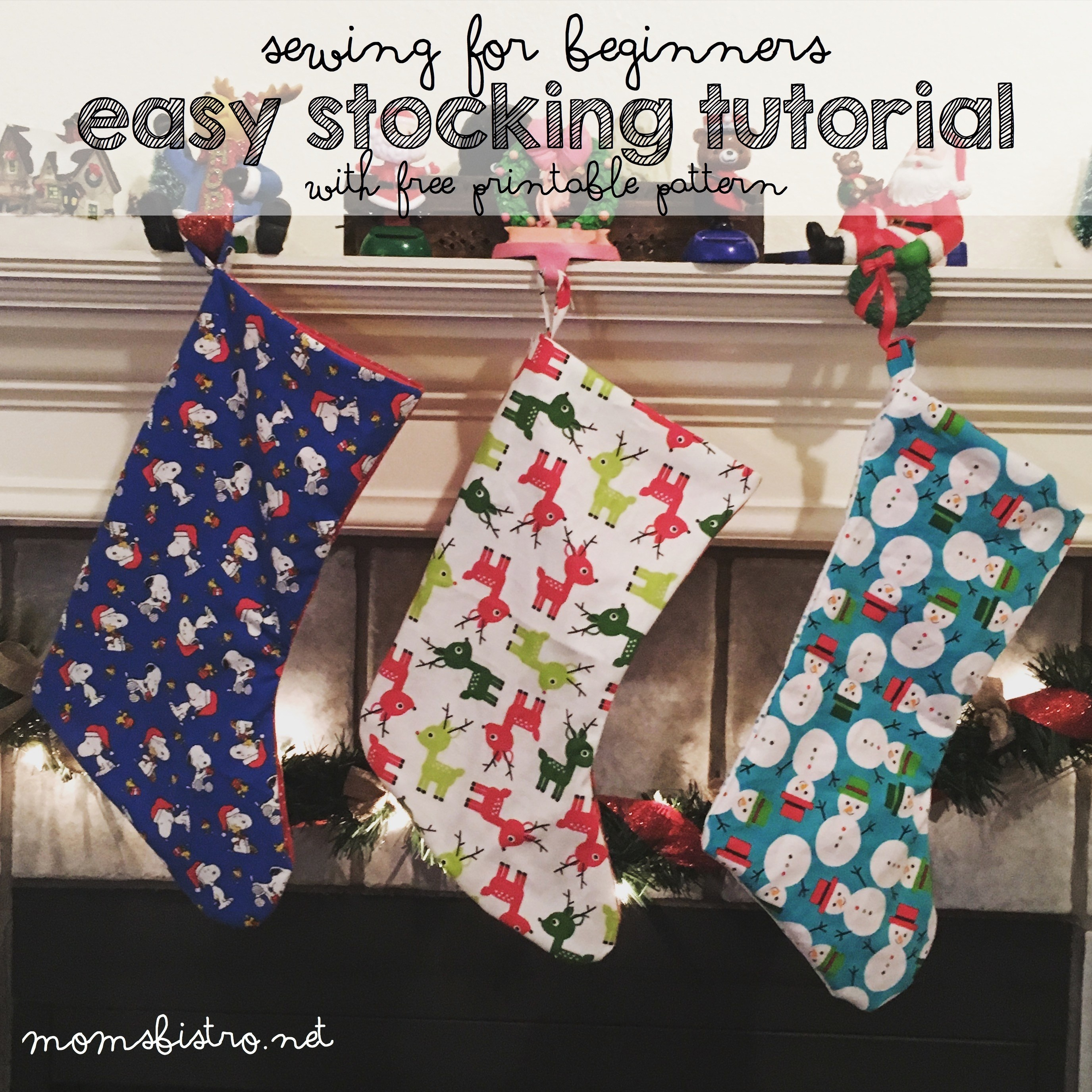 Homemade Holidays Are Always More Special! Learn How To Make Your - Free Printable Christmas Stocking Template
